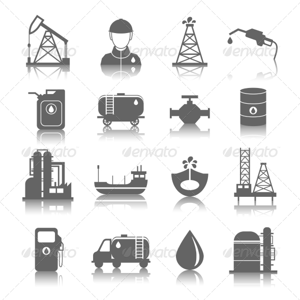 GraphicRiver Oil Industry Icons 8023409
