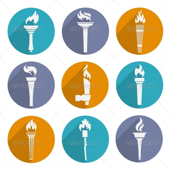 GraphicRiver Torch Icons Set 8023425