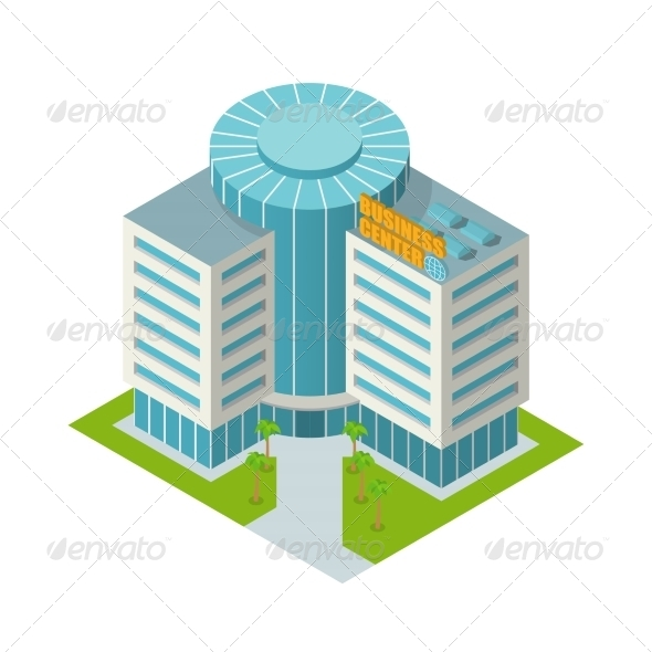 GraphicRiver Business Center Building Isometric 8023429