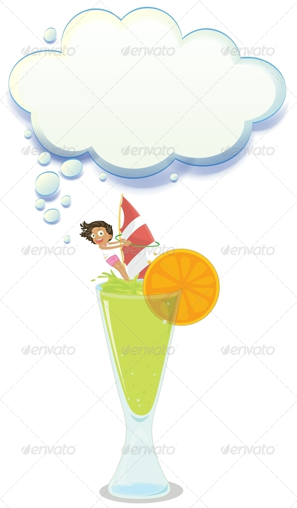 GraphicRiver Big Glass of Lemonade with a Girl 8023432