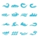 Waves Icons Set - GraphicRiver Item for Sale