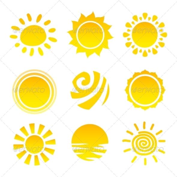 GraphicRiver Sun Icons Set 8023438