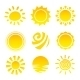 Sun Icons Set - GraphicRiver Item for Sale
