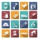 Lumberjack Woodcutter Icons - GraphicRiver Item for Sale