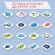 Mobile Applications Isometric Icons - GraphicRiver Item for Sale