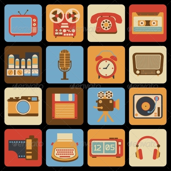 GraphicRiver Vintage Gadget Icons 8023503