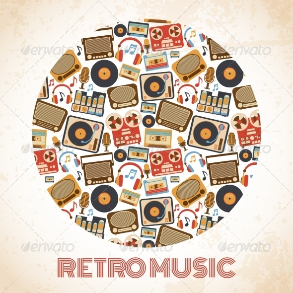 GraphicRiver Retro Music Poster 8023515