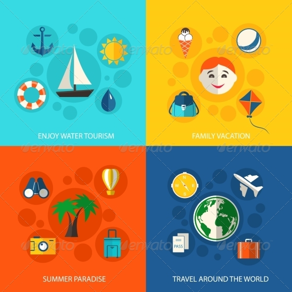 GraphicRiver Summer Travel Vacation Concept 8023527