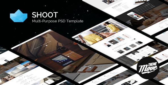 Shoot - Black & White Multi-Purpose PSD Template - Creative PSD Templates