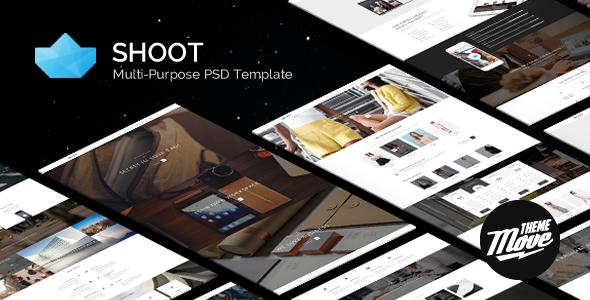 ThemeForest Shoot Black & White Multi-Purpose PSD Template 7819671