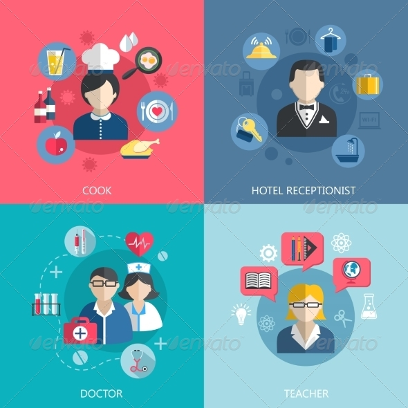 GraphicRiver People Professions Concept 8023534