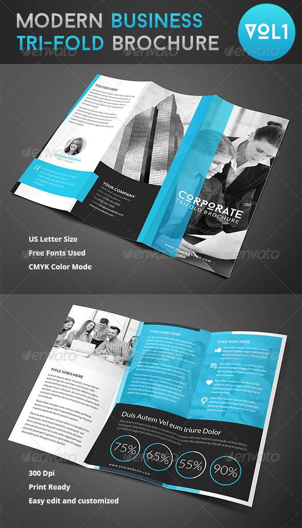 GraphicRiver Corporate Trifold Brochure Vol 2 8023555