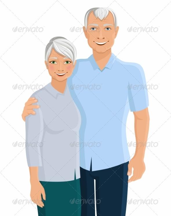 GraphicRiver Senior Couple Portrait 8023610