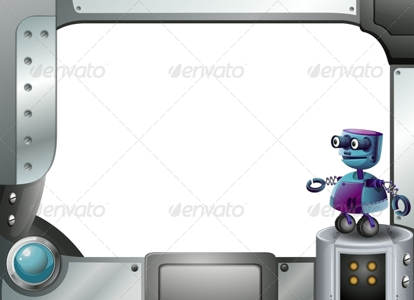 GraphicRiver Frame Made of Metal with a Robot 8023617