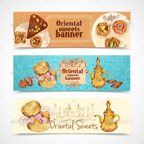 GraphicRiver Oriental Sweets Banners 8023619