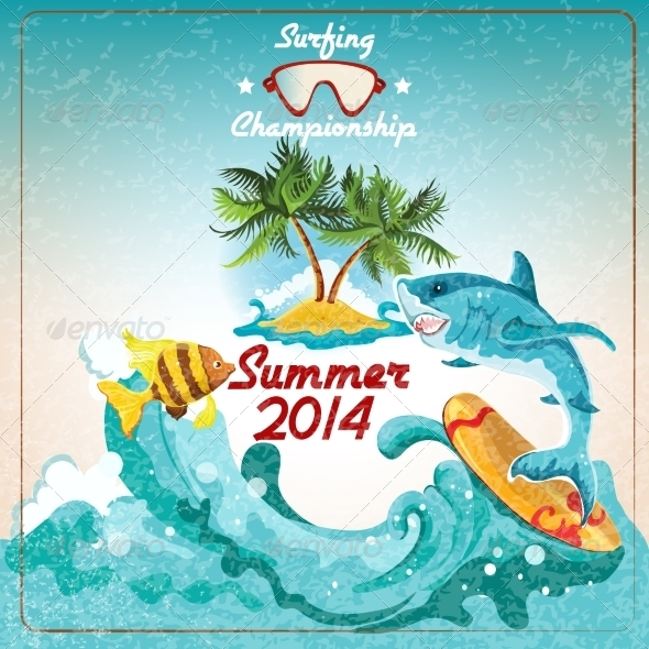 GraphicRiver Surfing Championship Poster 8023641