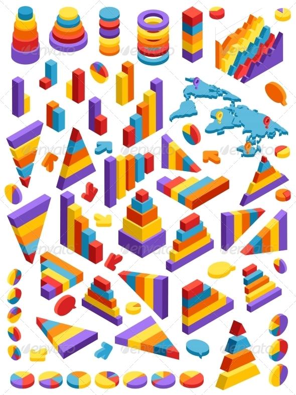 GraphicRiver Isometric Infographic Elements 8023652