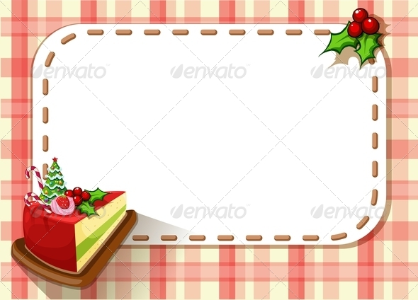 GraphicRiver Empty Card with a Slice of Cake 8023727