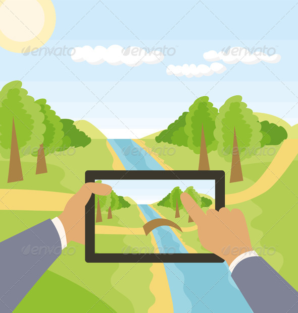 GraphicRiver Outdoors Cartoon Landscape 8023729