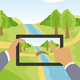 Outdoors Cartoon Landscape - GraphicRiver Item for Sale