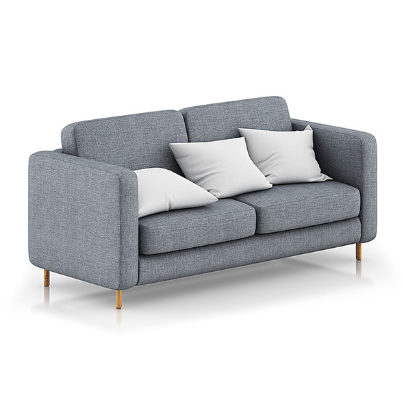 3DOcean Grey Sofa with Pillows 1 8023733