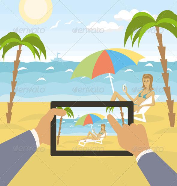 Outdoors Cartoon Sea Landscape