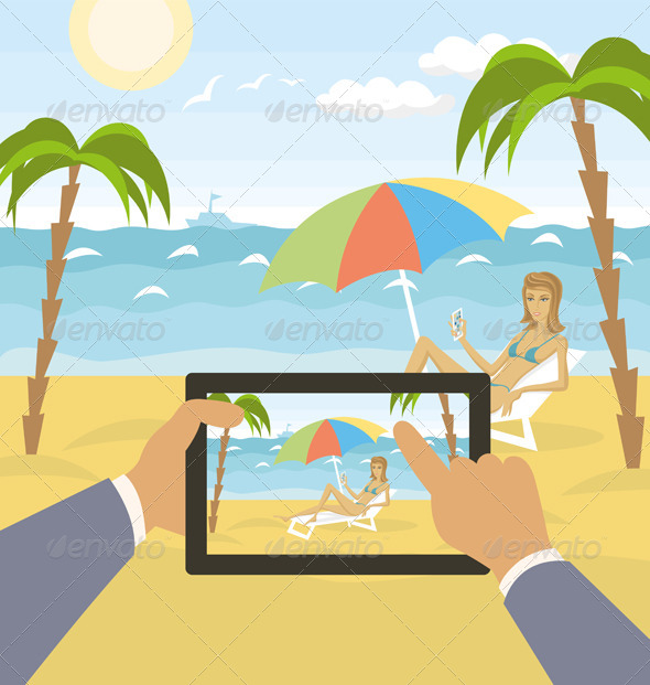 GraphicRiver Outdoors Cartoon Sea Landscape 8023737