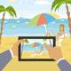 Outdoors Cartoon Sea Landscape - GraphicRiver Item for Sale