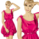 Surprised Blonde in Pink Dress - GraphicRiver Item for Sale
