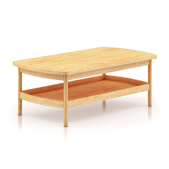 Wooden Coffee Table - 3DOcean Item for Sale
