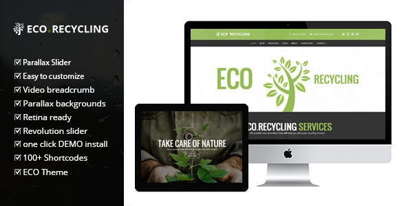 ThemeForest EcoRecycling a Multipurpose Wordpress Theme 7970296