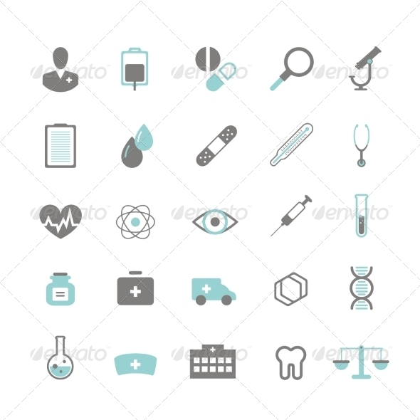 GraphicRiver Medical Icons 8023766