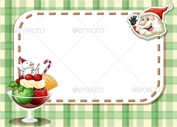 GraphicRiver Empty Christmas Card with a Smiling Santa 8023784