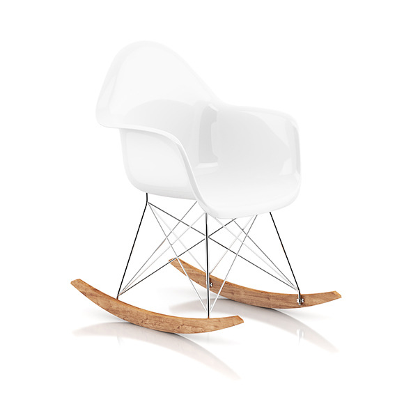 White Rocking Chair - 3DOcean Item for Sale