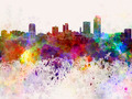 Little Rock skyline in watercolor background - PhotoDune Item for Sale