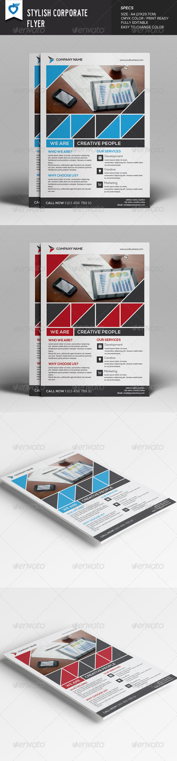 GraphicRiver Stylish Corporate Flyer 8023903