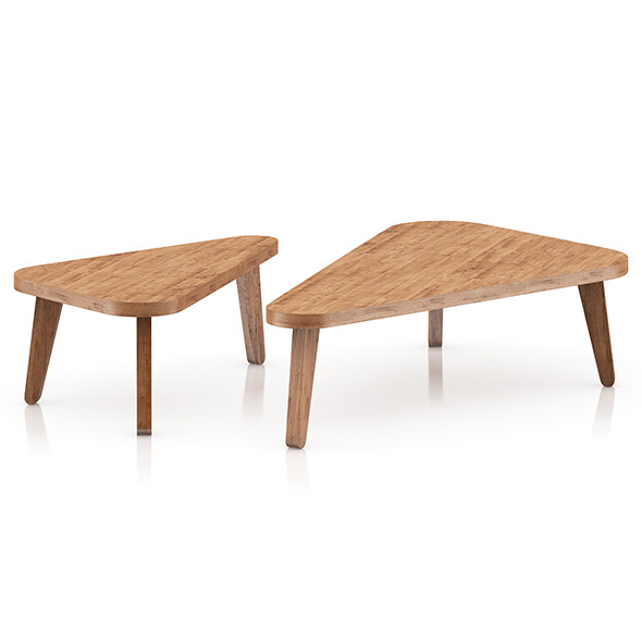 3DOcean Two Triangle Coffee Tables 8023959