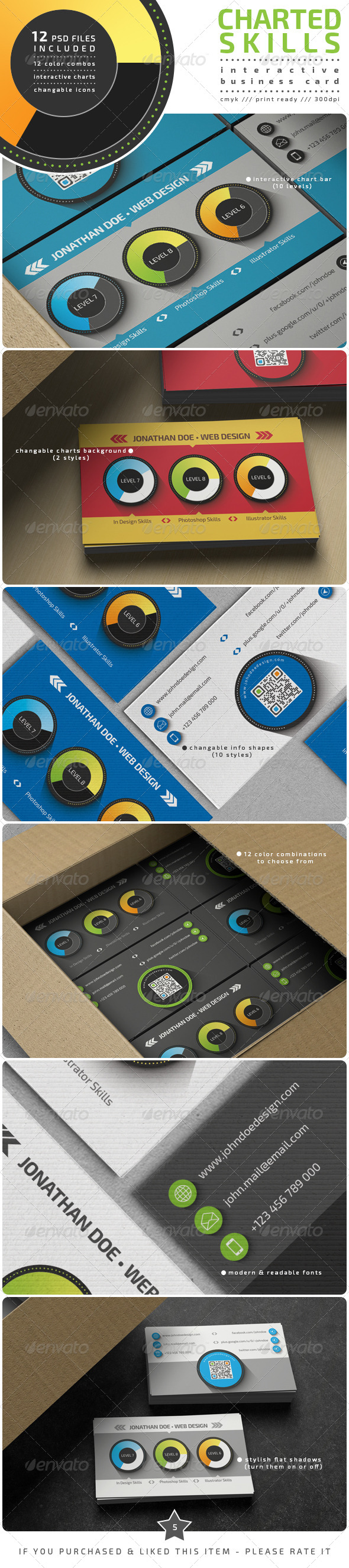 GraphicRiver Charted Skills Business Card 8001384