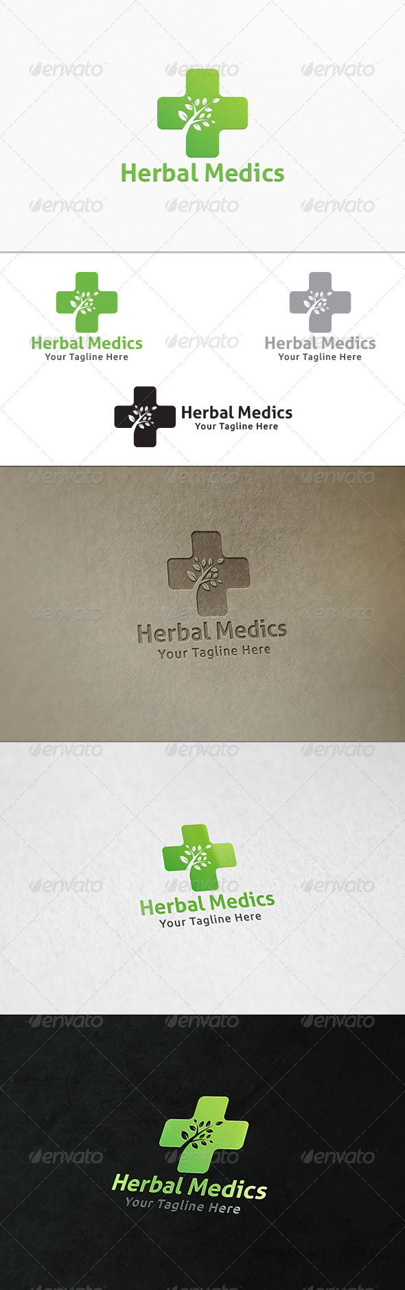 GraphicRiver Herbal Medics Logo Template 8023965