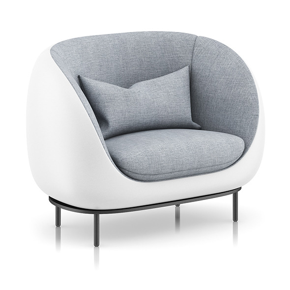 3DOcean Grey Armchair with Pillow 8023966