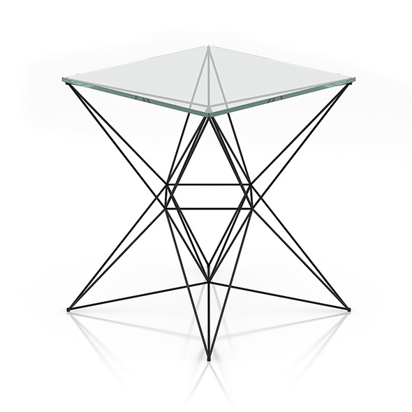 3DOcean Modern Glass Table 8023972