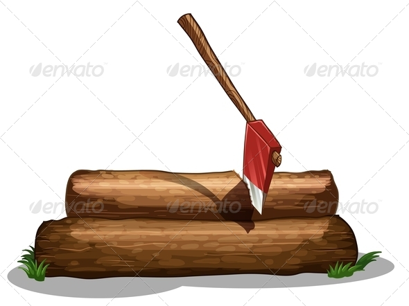 An Axe and Two Big Logs