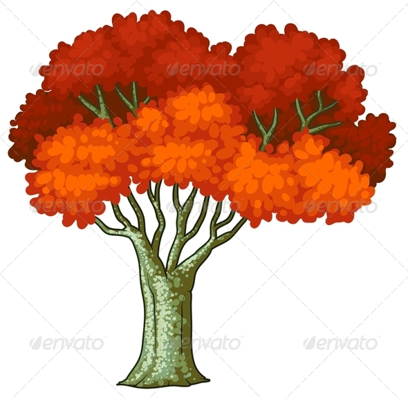 GraphicRiver A Tree with Red Leaves 8024200