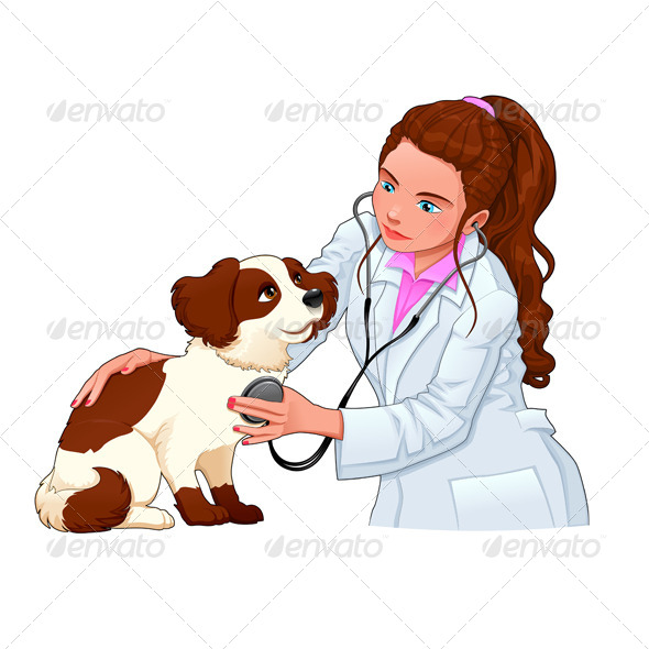 GraphicRiver Veterinary with Dog 8024368