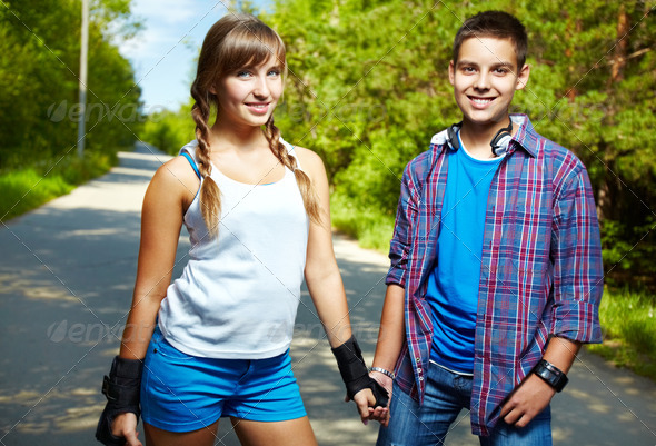Youthful friends - Stock Photo - Images