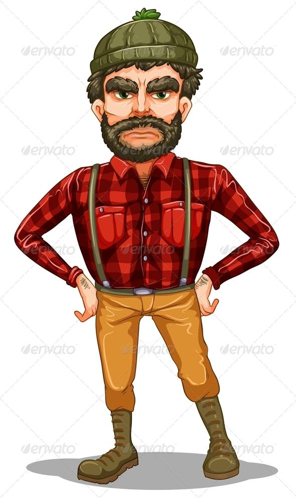 GraphicRiver Standing Lumberjack 8024430