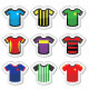 Football or Soccer Jerseys Colorful Icons Set  - GraphicRiver Item for Sale