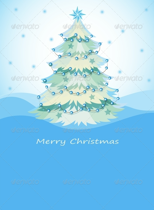 GraphicRiver Blue Christmas Tree 8024735