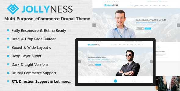 ThemeForest Jollyness Multi Purpose eCommerce Drupal Theme 7988566