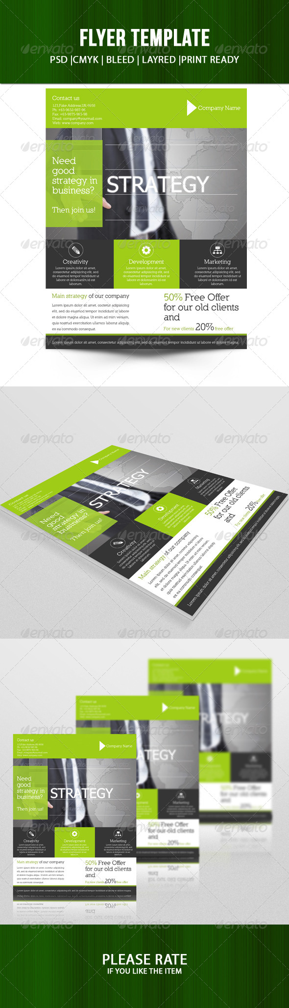 GraphicRiver Corporate Flyer Template-V51 8025160